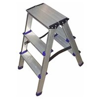 aluminium step ladders - 3 Steps Aluminium Single Sided Step Ladder House Domestic Folding Ladders pc drop shipping