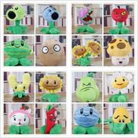 al por mayor zombis muñeca-16 Estilo 15-17cm Plantas VS Zombies Plush Doll P VS Z rellenas de plantas de juguete para los regalos del niño