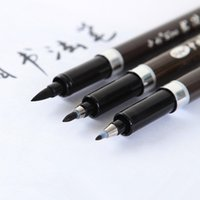 Wholesale Calligraphy pen Japan material brush for signature Chinese words learning Stationery school supplies papelaria