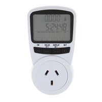 Wholesale 2017 New V A Hz AU Plug Socket LCD Display Power Energy Meter Wattage Voltage Current Frequency Monitor Analyzer UC