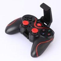 Diseño T3 + Bluetooth inalámbrico V3.0 Gamepad Game Remote Controller Joystick estructura ligera para Android Smartphone Box L3FE