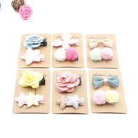 apparel baby girl - 2pcs set floral hair clip set baby girl Hairpin cute headwear apparel hair accessories mg0225