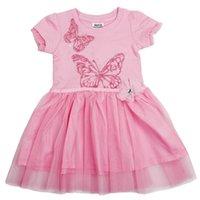 Wholesale summer girls dress pink color cute princess dress pure cotton girls baby dress