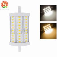 Acheter Lampe halogène 15w conduit-R7s led 118mm 12W 15w puissance élevée dimmable r7s conduit 118mm lumière 15W R7S conduit lampe de remplacement 150w lampe halogène AC85-265V Livraison gratuite