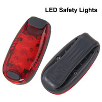 Wholesale LED Safety Lights Clip on Strobe Running Cycling Dog Collar Lights Modes Bike Tail Lights Warning Light DHL Free OTH333