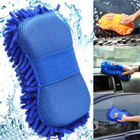 Wholesale Hot Sale Sponge Microfiber Car Washer Gloves Car Window Cleaning Chenille Washer Sponge Brush Pad Car care brushes