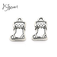 antique boot - Antique Silver Plated Zinc Alloy Christmas Boots Charms Pendants fit Pandora Bracelet Necklace Jewelry Making Findings Accessories DIY