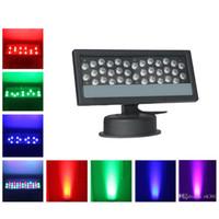 al por mayor ip65 led 3w-36 * 3W LED de la pared de la lavadora impermeable LED Floodlight RGB etapa luz de la luz al aire libre par LED de iluminación de la lámpara de lavado de luz