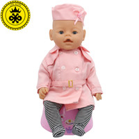 baby clothing business - Baby Born Doll Clothes Fit cm Baby Born Doll Blue Pink Red Stewardess Business Attire Hat Doll Clothes Set of Doll Dress D