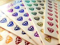 Wholesale 6Pcs Creative stickers Sexy personality Lipstick diamond stickers diary hand book DIY color stickers TZ006