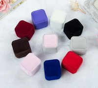 Wholesale Ring Retail Box Colors Available Wedding Jewellery Earring Ring Holder Storage Box Gift Packing Box For Jewelry