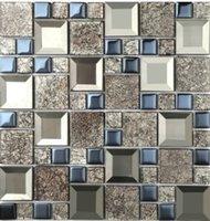 Wholesale Supply modern ceiling decoration special interior glass mirror mosaic engineering background wall D