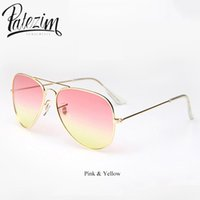 Venta al por mayor-PATEZIM Vintage Pilot gafas de sol mujer 2017 Sun gafas hombre Steampunk lunette de soleil mujer de lujo ray bain sunglass gafas de so