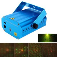 Wholesale Mini Red Green LED Laser Projector Stage Lighting Effect Patterns Voice activated Voice control DJ Disco Xmas Party Club Light Adjustment