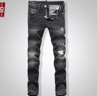 best price cotton trousers - New Arrival premium quality best price mens jeans brand jeans men cotton Trousers ripped jeans men pants size SQ1800