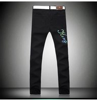 ballroom jeans - Cool wolf tribe tide brand new colorful black trousers tigers down light reflective jeans cool Ballroom Robin Jeans for men