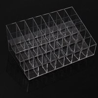 Wholesale Hot sale High Quality Trapezoid Clear Makeup Display Lipstick Stand Case Cosmetic Organizer Holder