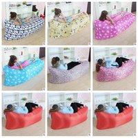 7 cores 210D Oxford tecido rápido sofá inflável sofá saco de ar ao ar livre sofá-cama de sono portátil 250 * 72 centímetros CCA5593 10pcs