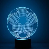 Tours lumineux France-Wholesale- Led USB 3D Night Light Projecteur Football de mode Dolphin Tour Eiffel Décor de Noël Atmosphere Lamp For Party Baby Kids Room