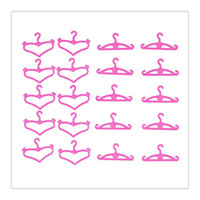 Wholesale 2016 Hot Barbie Doll Hangers Set of Pink Plastic Hangers Fit For Inch Barbie Dolls Clothes Display Hoder Barbie Doll Clothes Dress