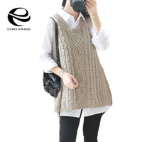 argyle sweater vest - Autumn Winter Cashmere Vest Knitted Waistcoat Asymmetry Loose Long Sweater Vest Female Argyle Women Sweaters And Pullovers