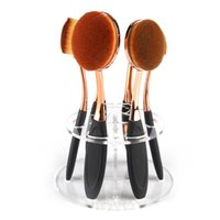 Wholesale 6 Hole Oval Makeup Brush Holder Drying Rack Organizer Cosmetic Shelf Tool
