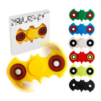 abs plastic boxes - 7 Colors ABS Batman HandSpinner Fingertips Spiral Fingers Gyro Torqbar Fidget Spinner Stainless Steel Bearing With Retail Box b1188