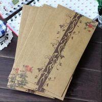 Wholesale mm NEW Vintage Red Rose Spray series Kraft paper DIY Multifunction envelope Gift envelopes
