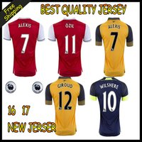 arsenal boy - 2016 New Soccer Jersey ALEXIS GIROUD OZIL WALCOTT XHAKA jersey Thai Quality Football Jeresys sports football shirts Arsenals