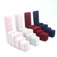 acrylic nail chains - 50pcs High grade velvet box Jewelry boxes The ear ring box nail box pendant jewelry box packing box multicolor