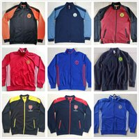 arsenal blue jacket - 2016 Quality Winter Arsenal Jacket MaNchester Chelsea Soccer Jacket Football Suit The Gunners Coat The Blues Soccer Sets