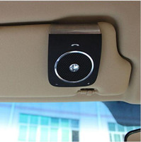 Wholesale BT18 Bluetooth V4 Sun Visor Clip Hands Free Car Speaker MP3 Player Built in Microphone DSP Function Support Voice Dialing
