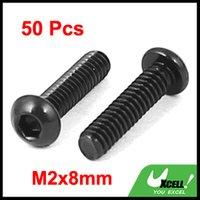 Wholesale M2x8mm Alloy Steel Button Head Hex Socket Cap Screw Bolt Black