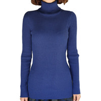 Wholesale Plus cashmere turtleneck sweater women Slim thickening pullover autumn long sleeved shirt new hedging jumper vestidos LXJ114