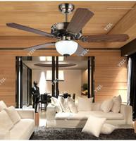 Ventilateurs électriques anciennes France-Ventilateur de plafond LED ventilateurs restaurant salle à manger continental antique 42inch plafonniers ventilateur simple ventilateur électrique lumières