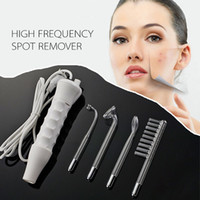 Wholesale 2pcsNew Portable Massager High Frequency Machine Acne Treatment Skin Spot Skin Facial Spa Salon Care Machine Beauty no retail box