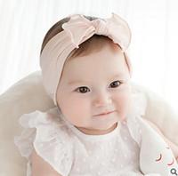 Baby Girls bandes de cheveux filles BOW coiffure de style coréen enfants coton falbala accessoires mode de nouveaux accessoires de photographie T0662