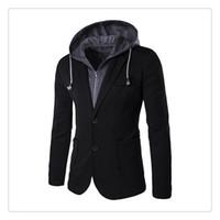 Hommes Suits Blazers Springautumn Mode Faux Deux Faux Design Hommes Occasionnels Deux Costumes Boutons US TAILLE: XS-L