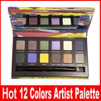 artist logos - Makeup Artist Palette g Colors Eye Shadow with logo both brush and pallette DHL high quality