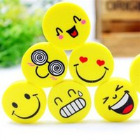 Wholesale Creative Stationery Student Prize Smile Eraser Lovely Expression Rubber Child Small Gift