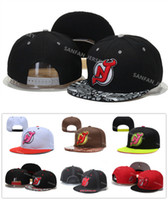 Wholesale 7 Colors NHL New Jersey Devils Snapback Men s Hats Embroider Team Logo Sports Adjustable Ice Hockey Caps Hip Hop Flat Visor Hat