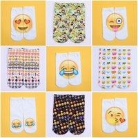 Wholesale Funny Socks D digital Printing Fashion adult Women Men Unisex Emoji Pattern Meias Feminina Low Ankle Socks pair