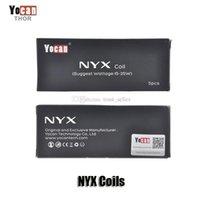 Auténtico Yocan NYX tanque de reemplazo bobinas cabeza cera QDC Quatz doble bobina de cerámica bobina de dientes DHL
