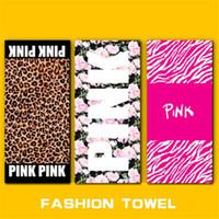 Wholesale VS PINK Bath Beach Towel Bathroom Shower Towels Drying Mat Leopard Plage Washcloth Women Swimwear Yoga Towels cm cm Styles