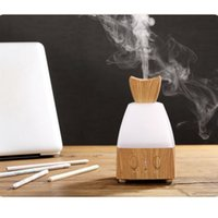 Wholesale CAROLA Electric Fragrance Diffuser Wood Essential Oil Diffuser Warm LED Lights Changing ML Mist Diffuser for Home Office Light wood