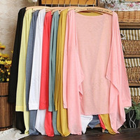 Wholesale Women Fashion Summer Beach Sunscreen Casual Long Sleeve Cardigan Shawl Coat