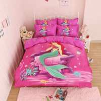 Wholesale King size children girl and boys D cartoon Reactive printing bedding set d bedding sets Quilt cover Bed Sheet pillowcases