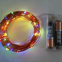 Wholesale Christmas String Lighting Outdoor M LED AA Battery Operated Copper Wire Colorful Tiny String Fairy Light