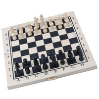 Wholesale Good deal Foldable Wooden Chessboard Travel Chess Set with Lock and Hinges