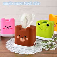 Wholesale Creativity Tissue Boxes Colorful Fashion Cute animal Cylinder Tissue Creative Desktop Tissue Box Pumping Carton